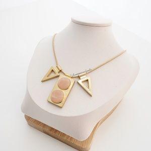 Madewell Pink Jade Pendant Necklace